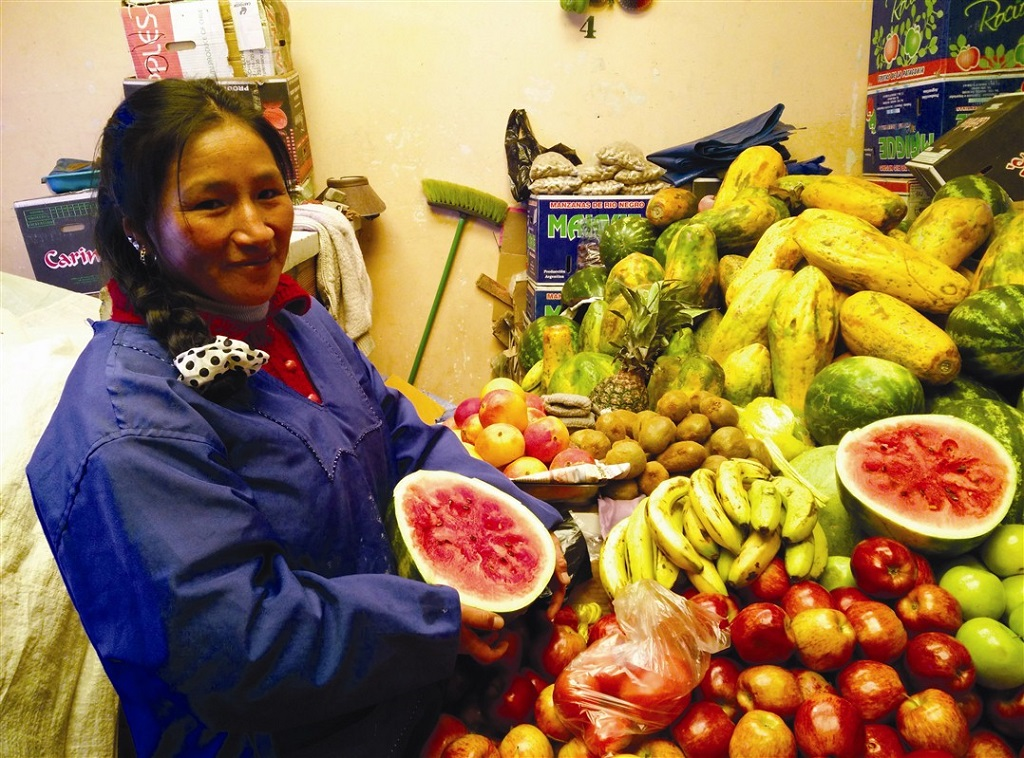 Au marché de Uyuni, Bolivie