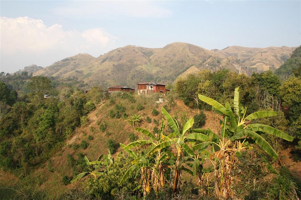 Village pao dans la région du lac Inle