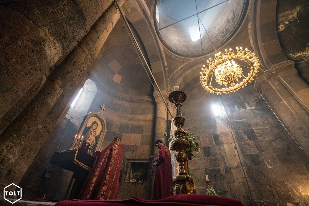 Messe célébrée au monastère des psaumes