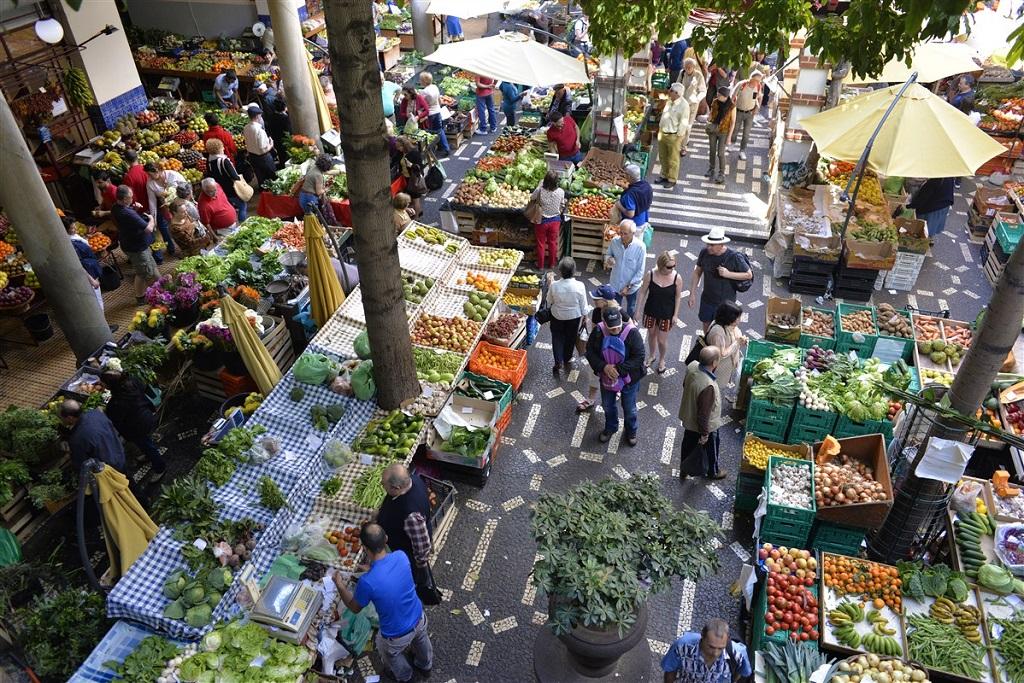 Sur le marché de Funchal - Madère - Portugal