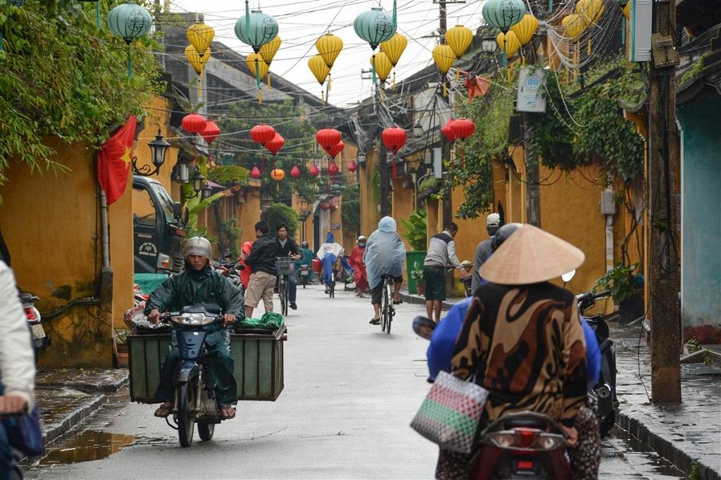 Maisons coloniales et lampions, Hoi An