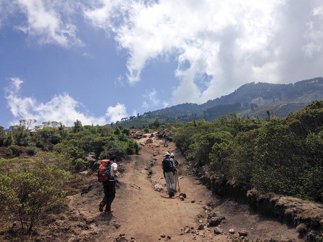Sur le volcan Tajumulco