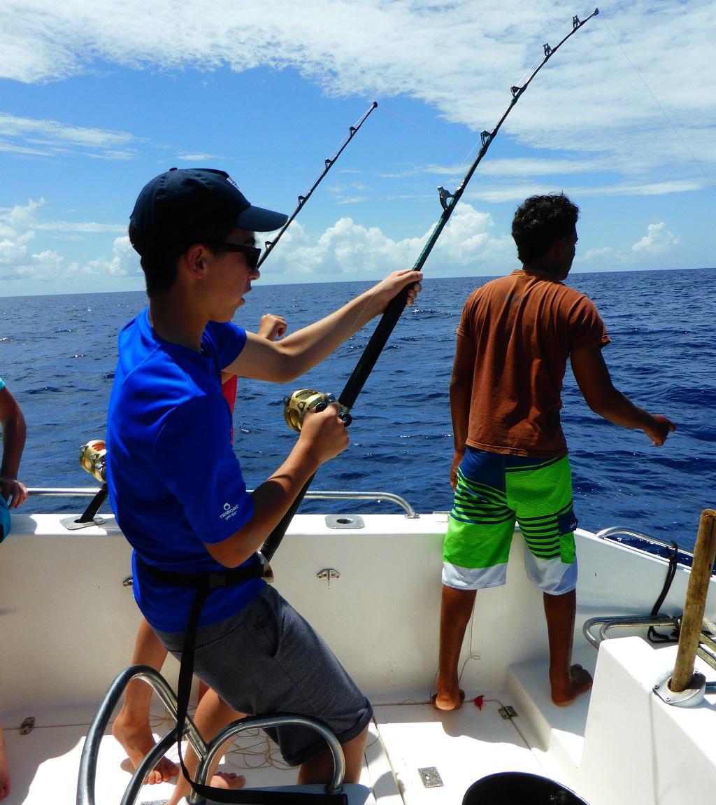 Sortie pêche au large de Praslin