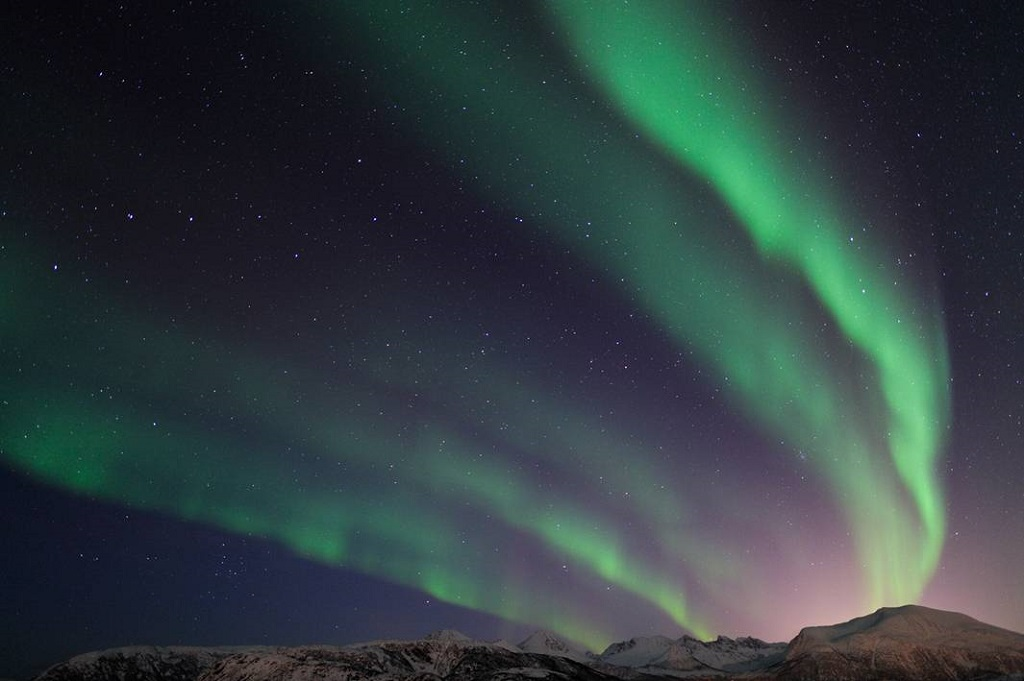 Aurores boréales dans la région de Tromsø