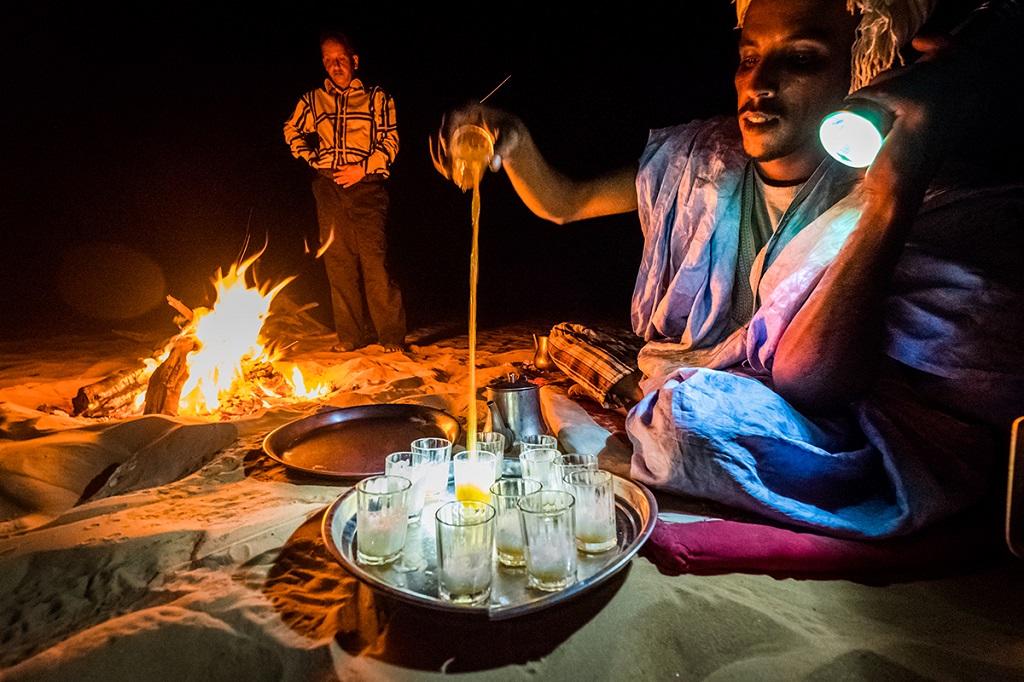 Camp dans l'Oued Timinit
