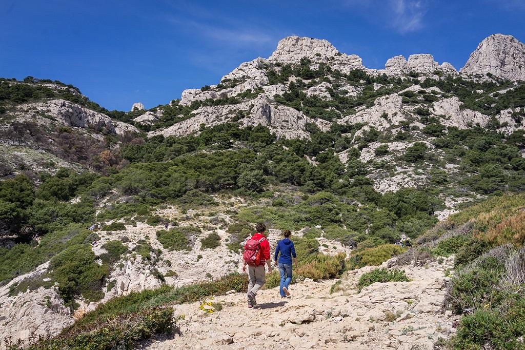Parc national des Calanques, entre Callelongue et Marseilleveyre