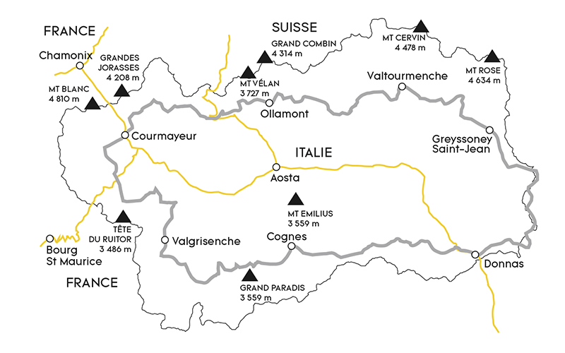 Carte Val Daoste Italie.Partir Dans Le Val D Aoste