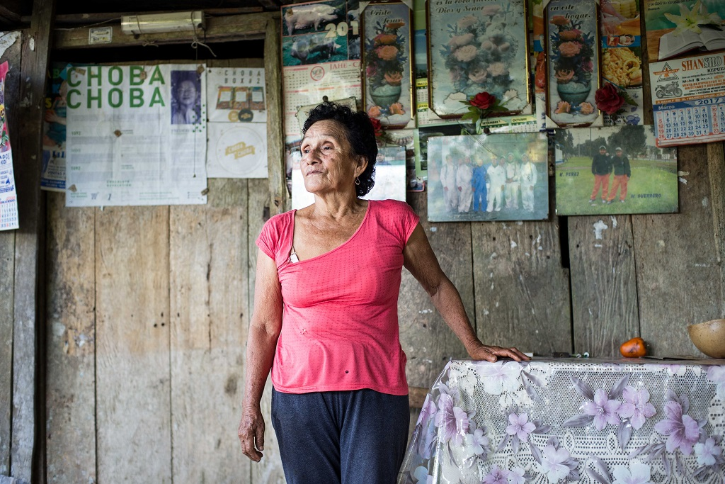 Fredesvinda, activiste du cacao. Âgée d'environ 70 ans, elle a bien connu la période des narco-trafiquants. Elle possédait son propre laboratoire pour transformer la coca.