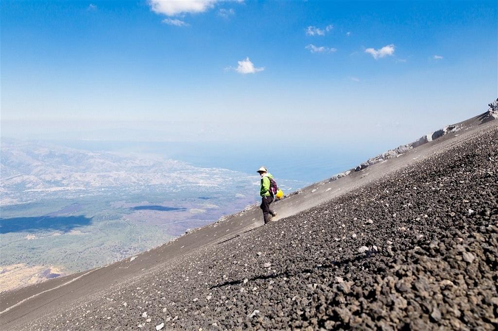 Ascension du volcan Etna, Sicile, Italie