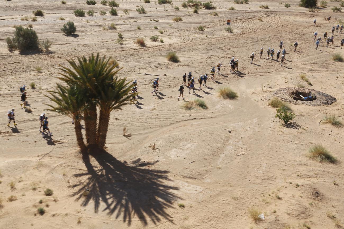 Les coureurs sortis des dunes