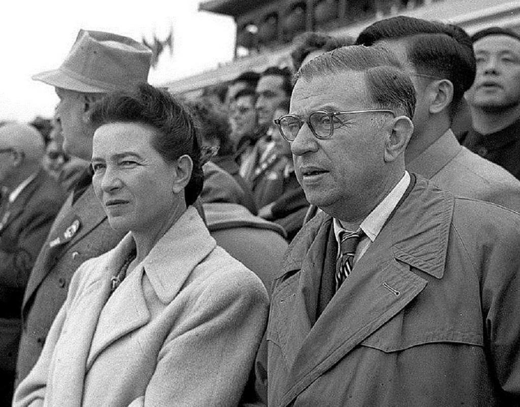 Simone de Beauvoir et Jean-Paul Sartre, en 1955