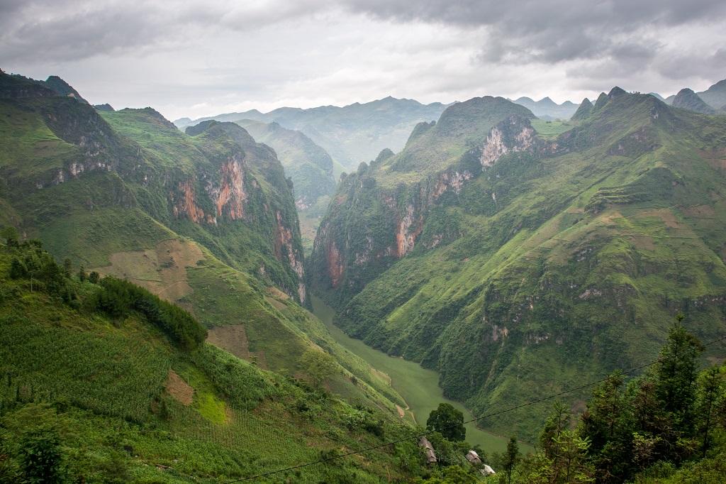 Plateau de Dong Van, canyon de la rivière Nho Que dans la région de Meo Vac