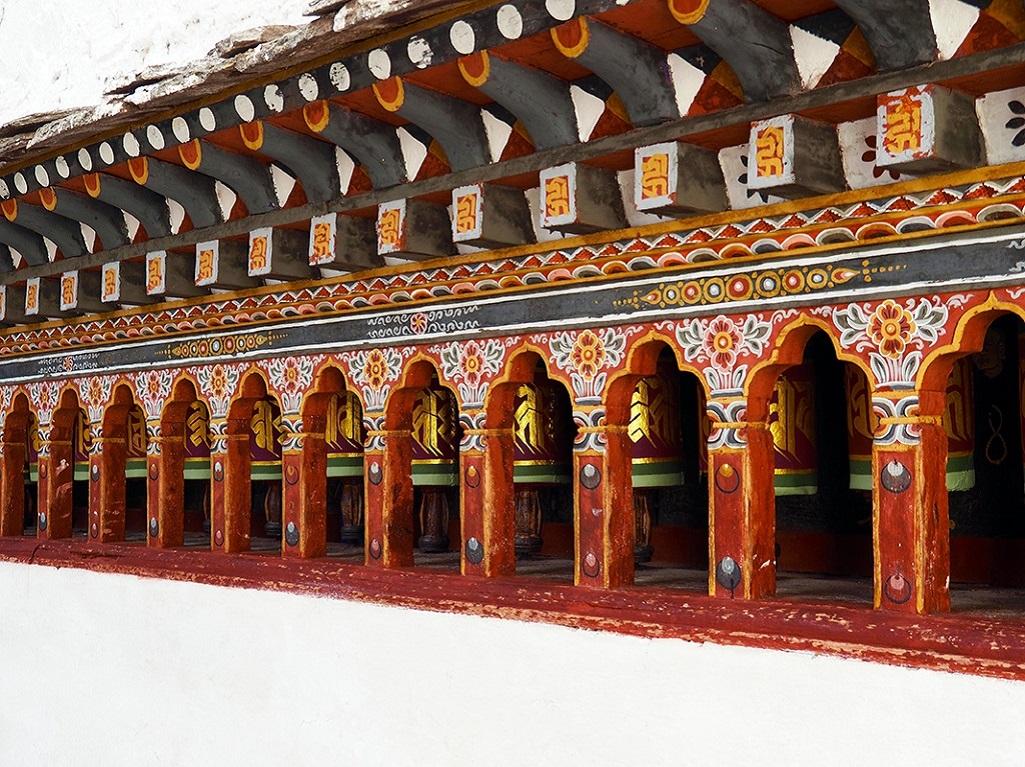 Moulins à prières, Dzong de Paro - ©Thomas Callens
