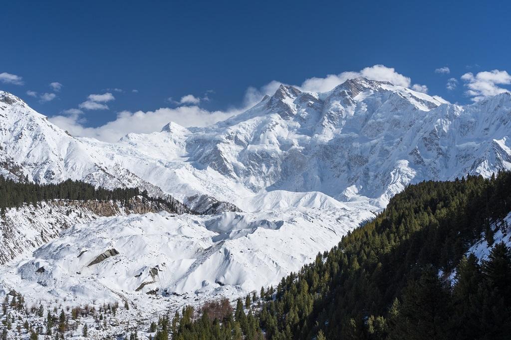 Massif montagneux Nanga Parbat en hiver, Chilas, Gilgit Baltistan, Pakistan