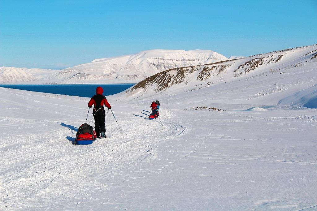 Ski en direction du Templefjord - ©Victor Labarre