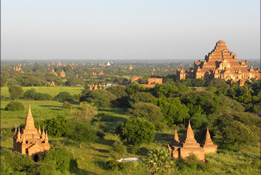 La plaine de Bagan et Mandalay