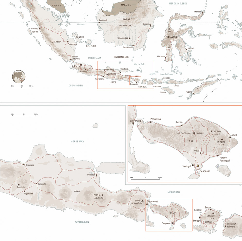 Carte de l'Indonesie