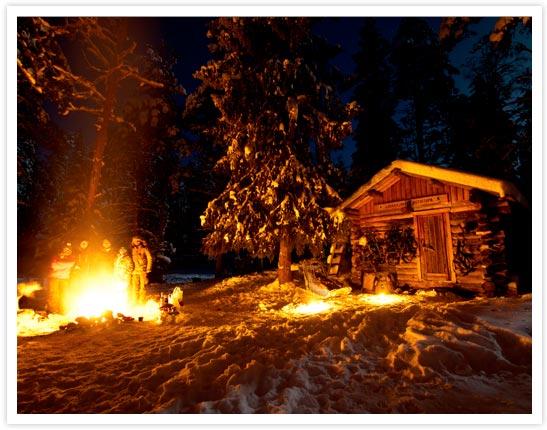 Nuit dans un chalet – Finlande © Yoan Fontan