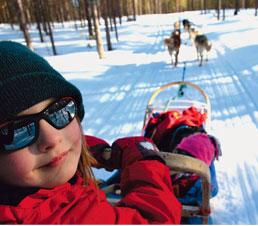 Petits trappeurs en Laponie
